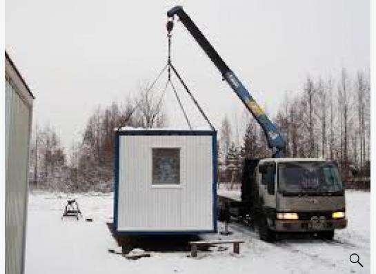 Перевозка бытовок манипулятором в Москве Фото 3
