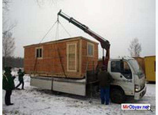 Перевозка бытовок манипулятором в Москве Фото 2