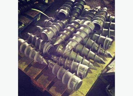 Наконечники литые для винтовых свай с завода